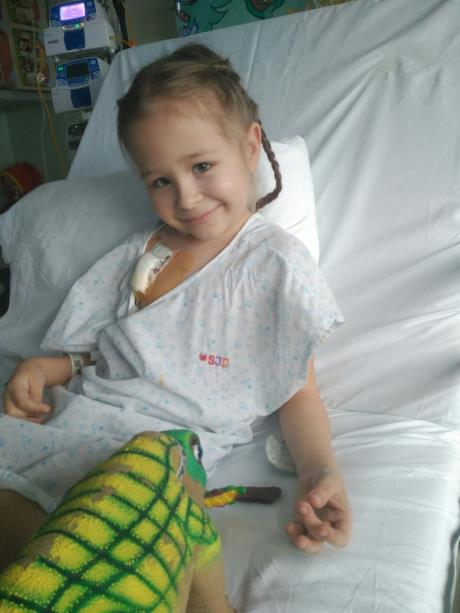 Polina needs surgery for cancer remission